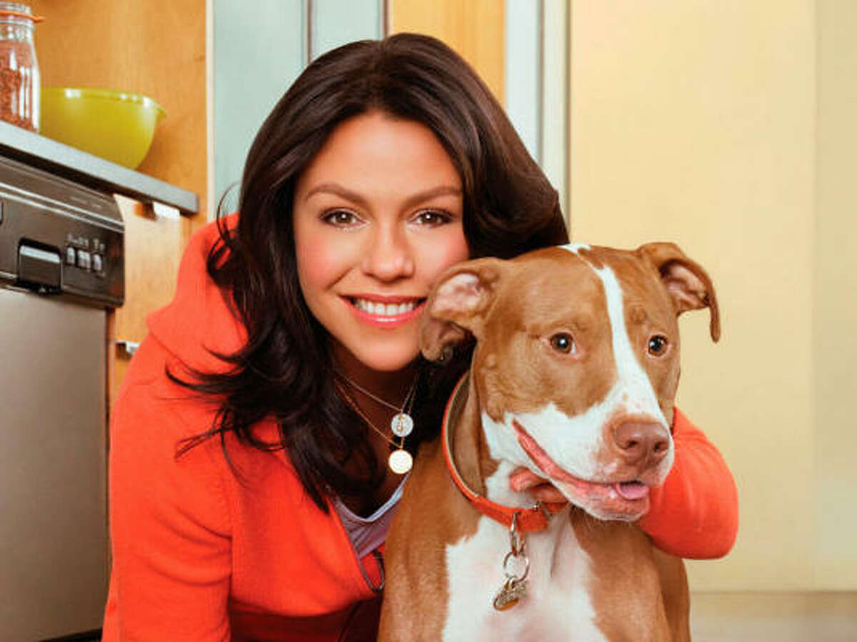 Rachael Ray and her dog Isaboo.