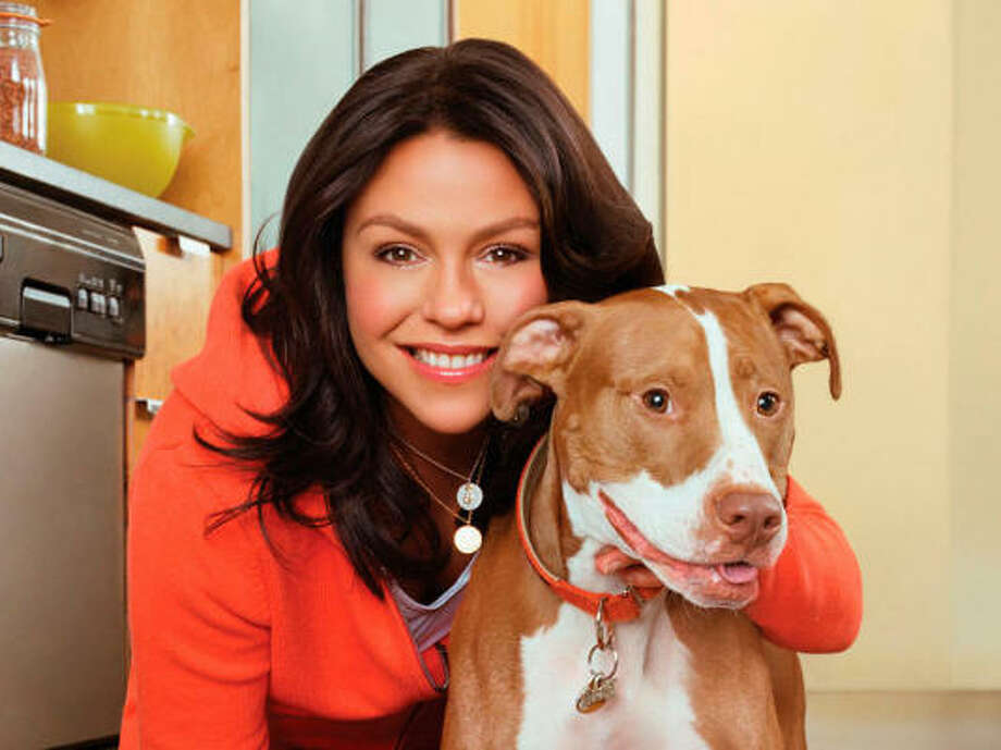 Rachael Ray and her dog Isaboo. Photo: AP