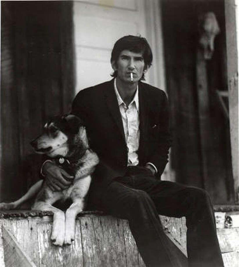 Townes Van Zandt and his dog, Geraldine. Photo: ALL