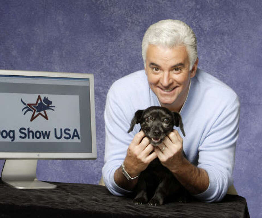 John O'Hurley and his rescue dog Betty. Photo: PRN
