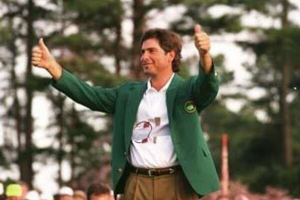 1. Fred Couples, Nantz's suitemate at the University of Houston, wins the Masters with Nantz on hand for the green jacket presentation at Butler Cabin (April 12, 1992).