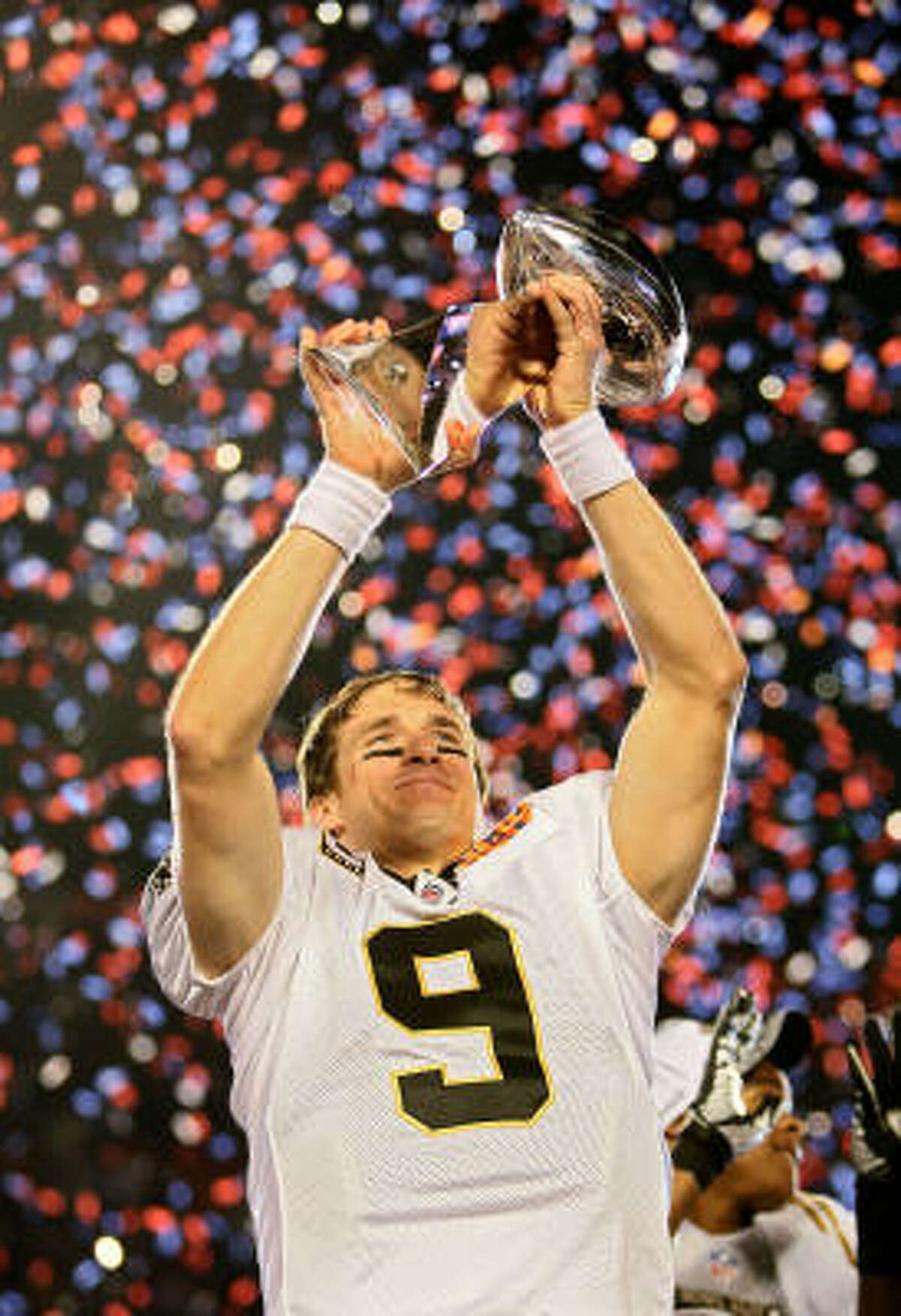 2. Almost five years after Hurricane Katrina wrecks their hometown, the New Orleans Saints upset the Indianapolis Colts, 31-17, to win Super Bowl XLIV before the largest audience in U.S. TV history (Feb. 7, 2010).