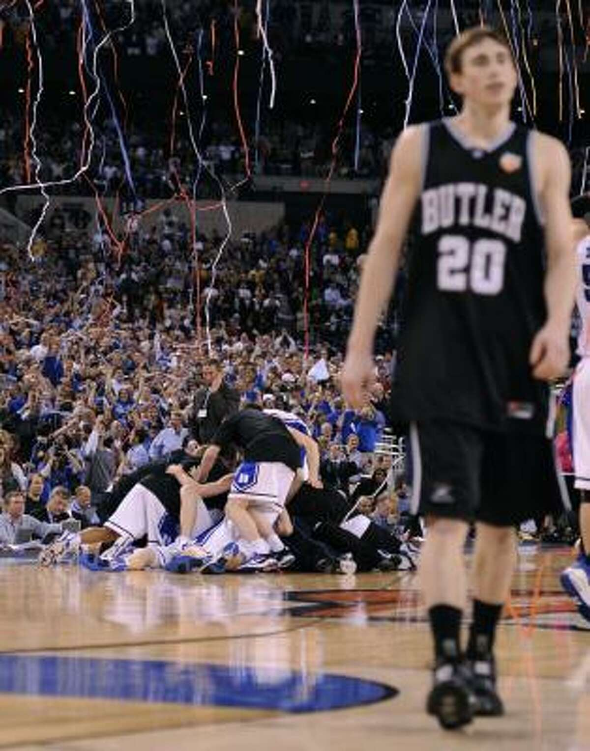 3. Cinderella Butler takes heavily favored Duke to the limit but misses a final shot at the buzzer as the Blue Devils win 61-59 for Mike Krzyzewski's fourth NCAA Tournament championship (April 5, 2010).