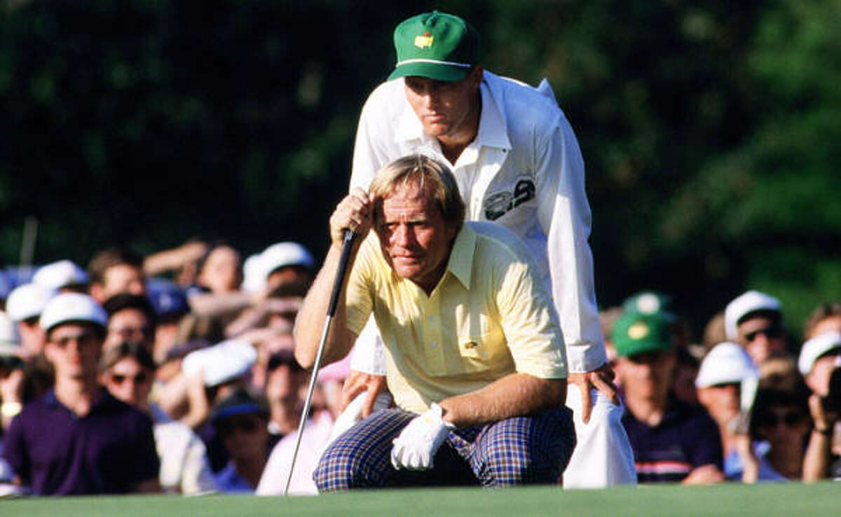 In 1986, Jack Nicklaus shoots a final-round 65 to become the oldest Masters champion at 46.