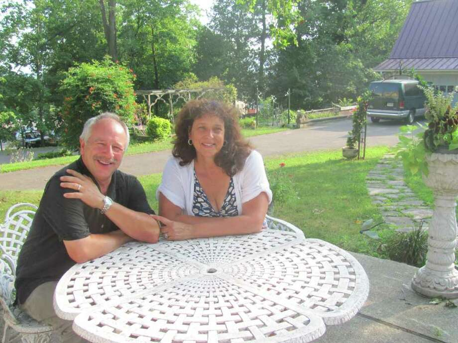 Loretta and Bob Kretchko will open their home for a cocktail garden party Saturday, Aug. 6, as part of the second annual ìCocktails & Cabaretî ó a benefit for TheatreWorks New Milfordís Building Fund. Photo: Contributed Photo