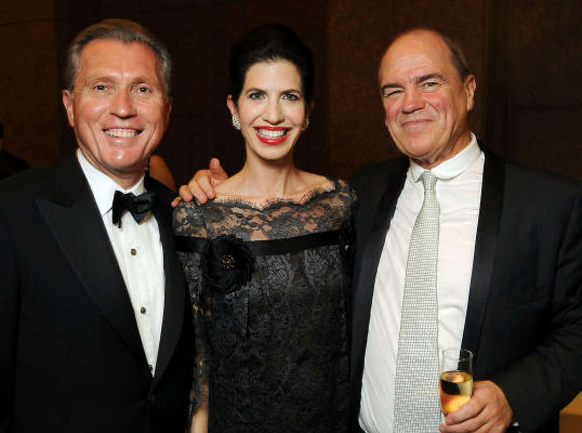 From left: Martin Fein and his wife Kelli along with Hans Graf at the Houston Symphony Opening Night Diner.