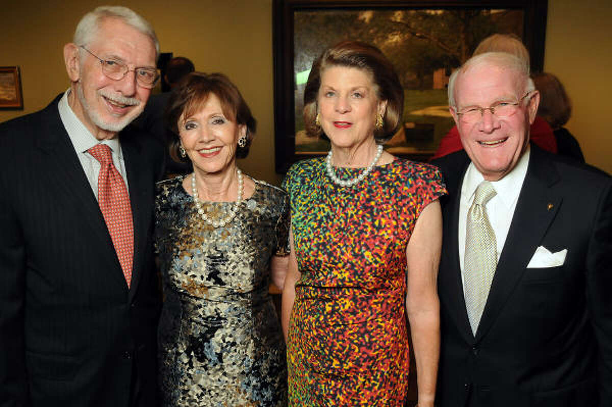 From left: Melvyn and Cyvia Wolff with Judy and Rodney Margolis at a reception and dinner celebrating the opening of two German Impressionism exhibits at the Museum of Fine Arts, Houston.