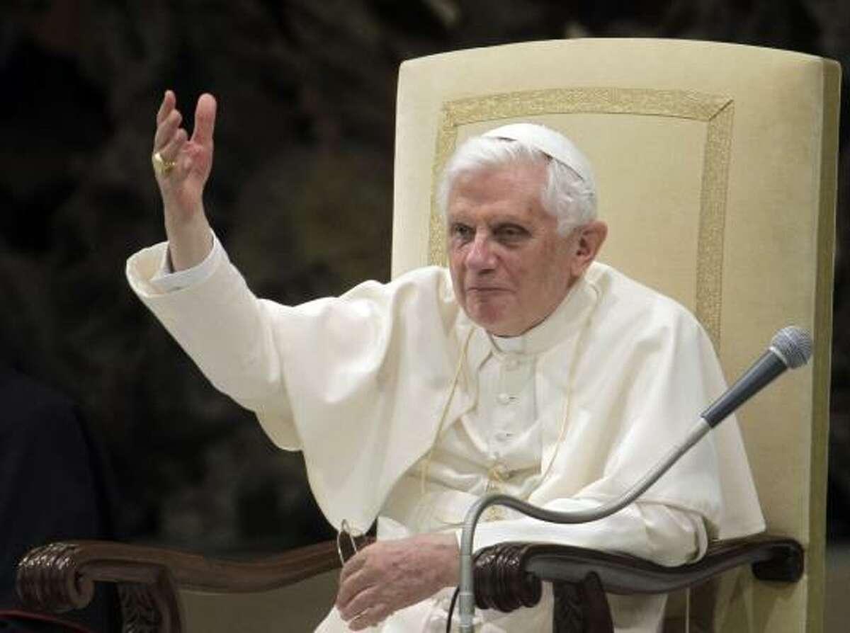 Pope Benedict A Vatican statement said the terror attacks