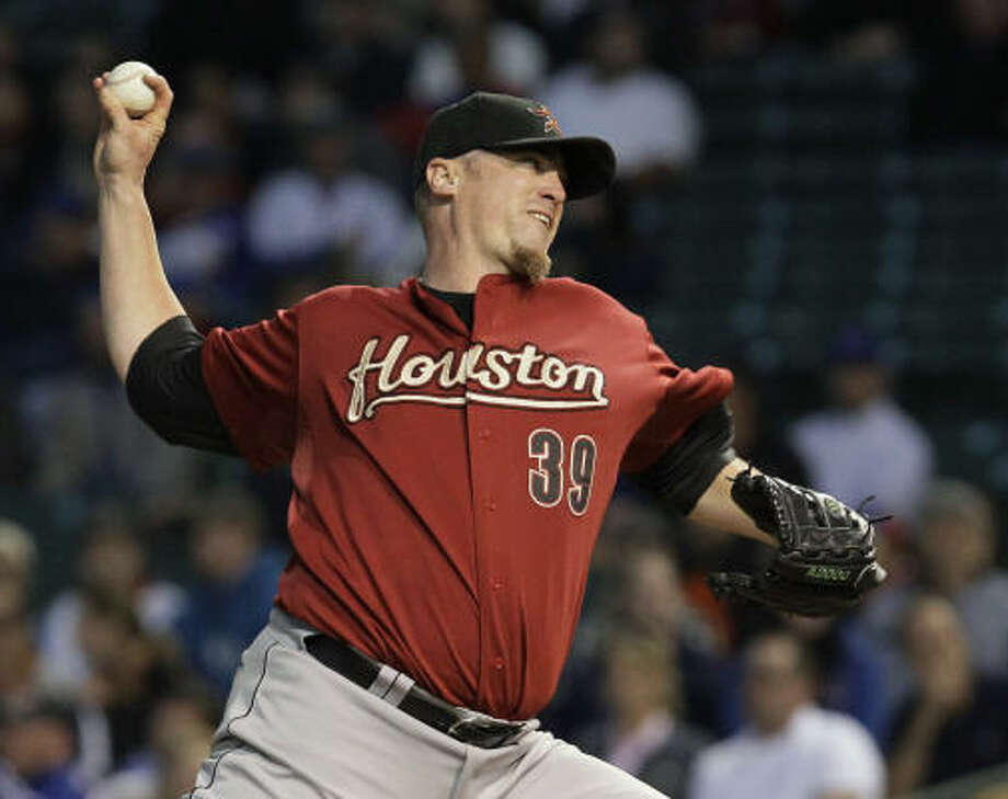 Astros starter Brett Myers finished with eight strikeouts and lowered his ERA to 2.91. Photo: Charles Rex Arbogast, AP