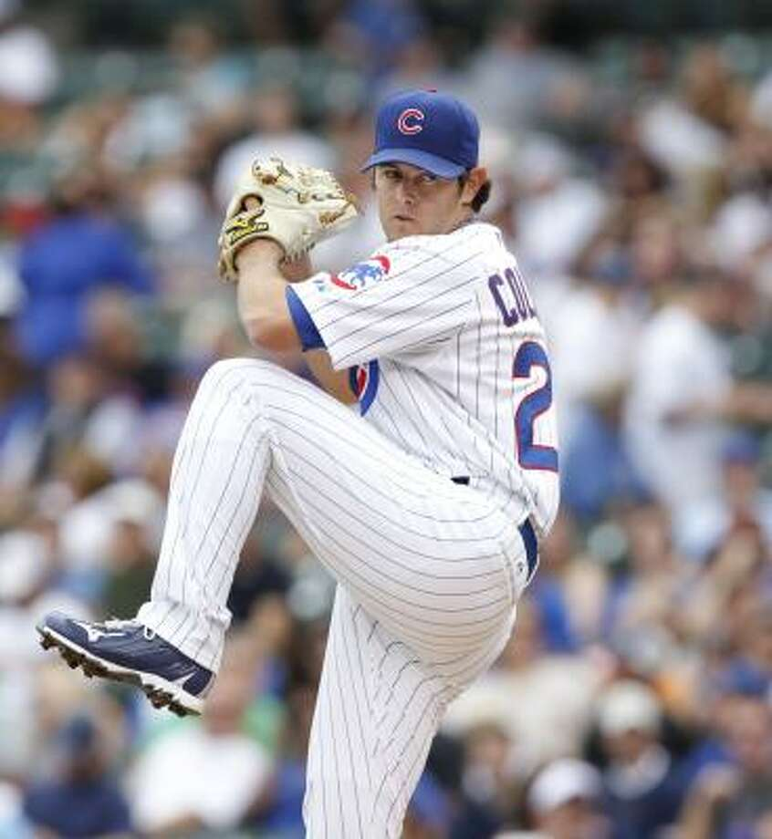 Cubs starting pitcher Casey Coleman went six innings. Photo: Brian Kersey, AP