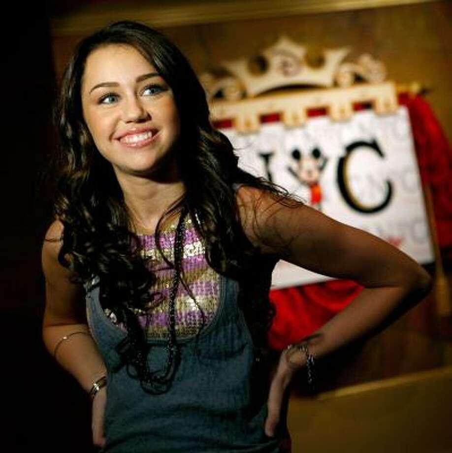Miley CyrusIt's a party in the ... U! S! A! Photo: Diane Bondareff, AP
