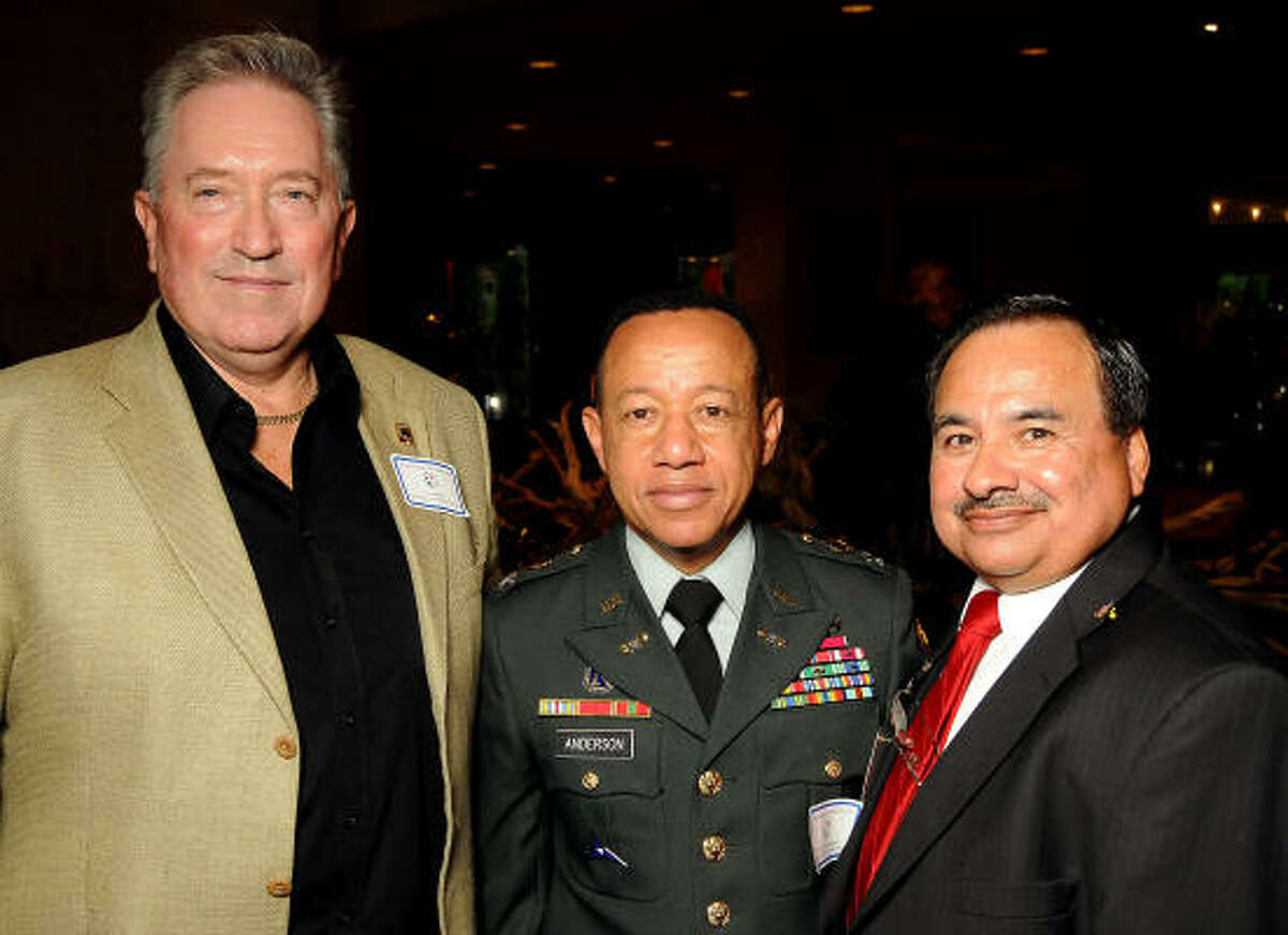 From left: David Ward, Col. Donnie Anderson and Joe Mata