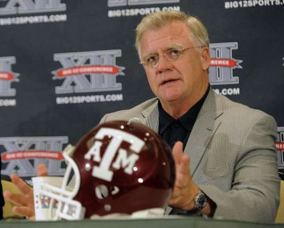 Texas A&M coach Mike Sherman faces a key point in his tenure with the Aggies as he enters his third season. Photo: Cody Duty, AP