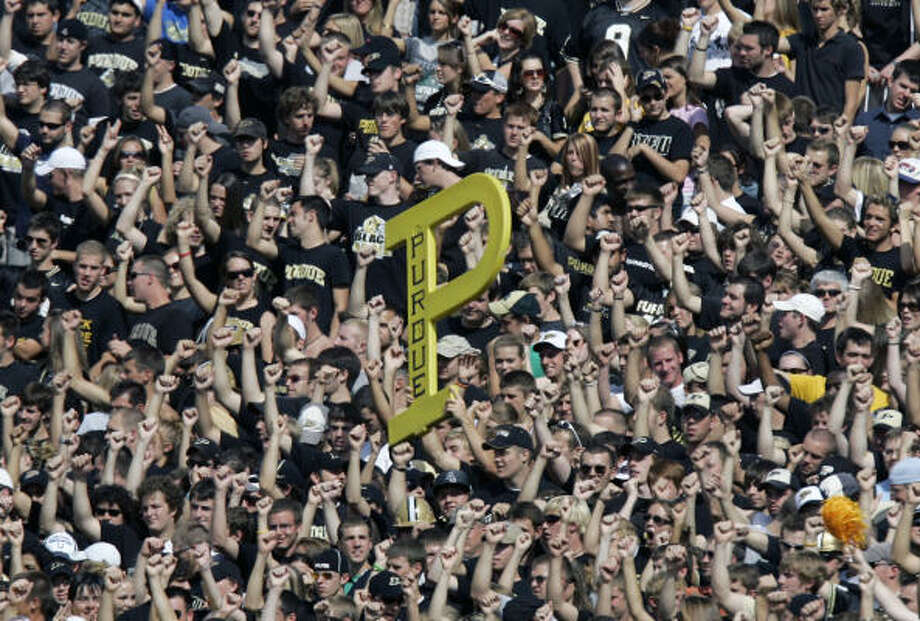 12. PURDUEMakes the list for this alone: One Boilermakers fan converted a coffin into a grill and ice chest, and brought it to the game in a hearse. Photo: Michael Conroy, Associated Press