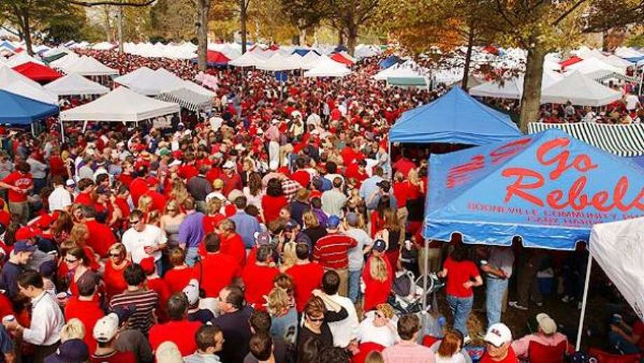 "2. MISSISSIPPITen acres shaded by oak trees make The Grove one of the great gameday spots in America. The saying at Ole Miss goes something like this: ""We may lose a game, but we never lose a party."" Photo: University Of Mississippi"