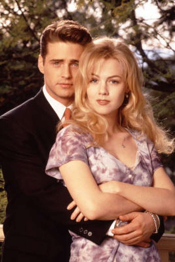Then: Jason Priestley and Jennie Garth. Photo: Andrew Semel, Fox Broadcasting Co.