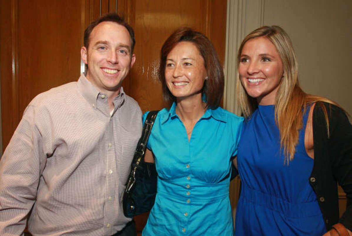 Tom Hughes, from left, Charlotte Harris and Kelly Engert