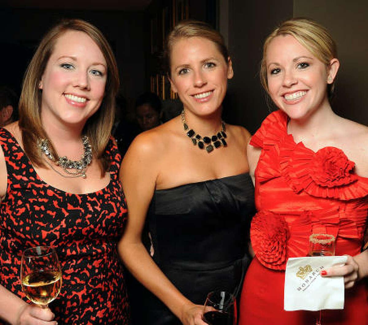 From left: Lindsay Johnson, Cynthia Frawley and Victoria Beard