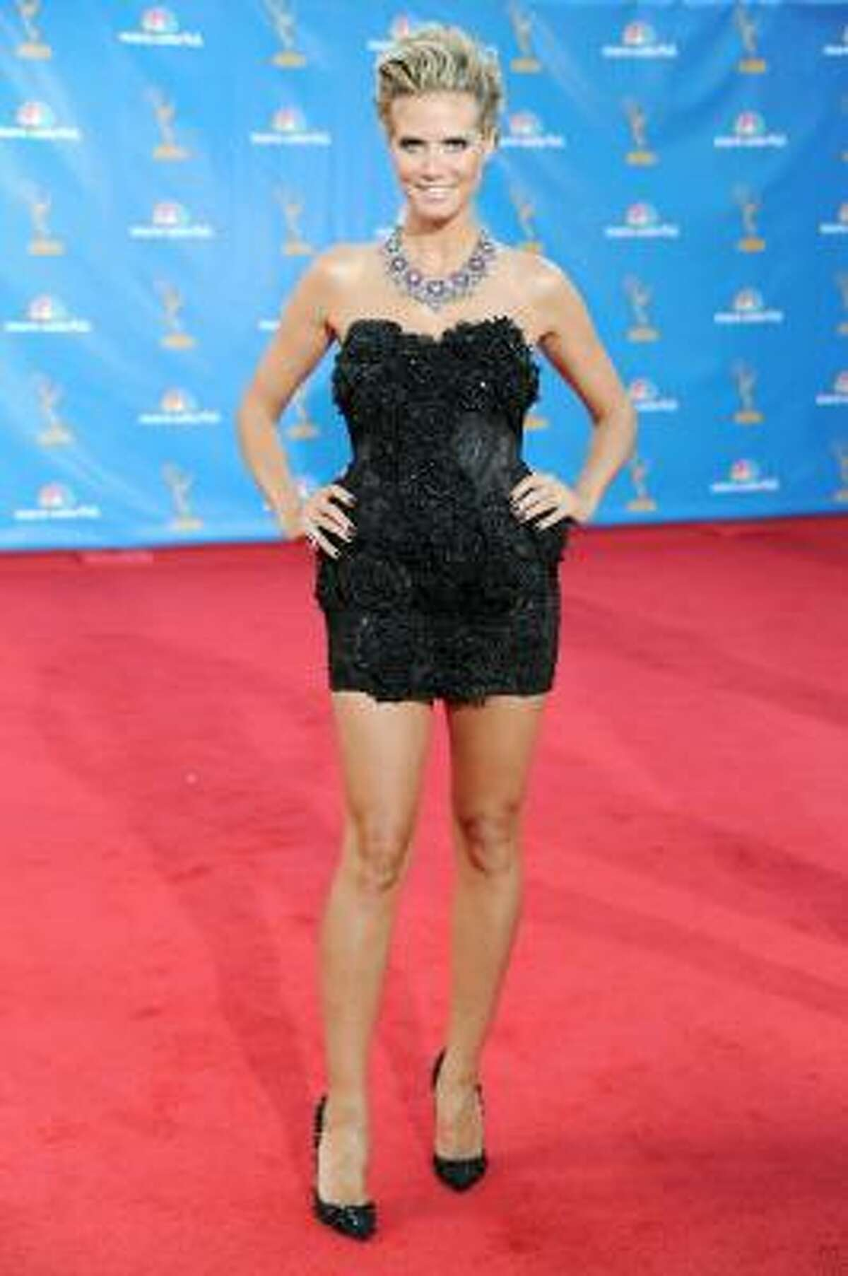 Heidi Klum – Everything's big except the dress.
