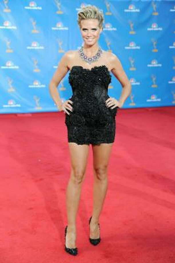 Heidi Klum – Everything's big except the dress. Photo: Frazer Harrison, Getty Images