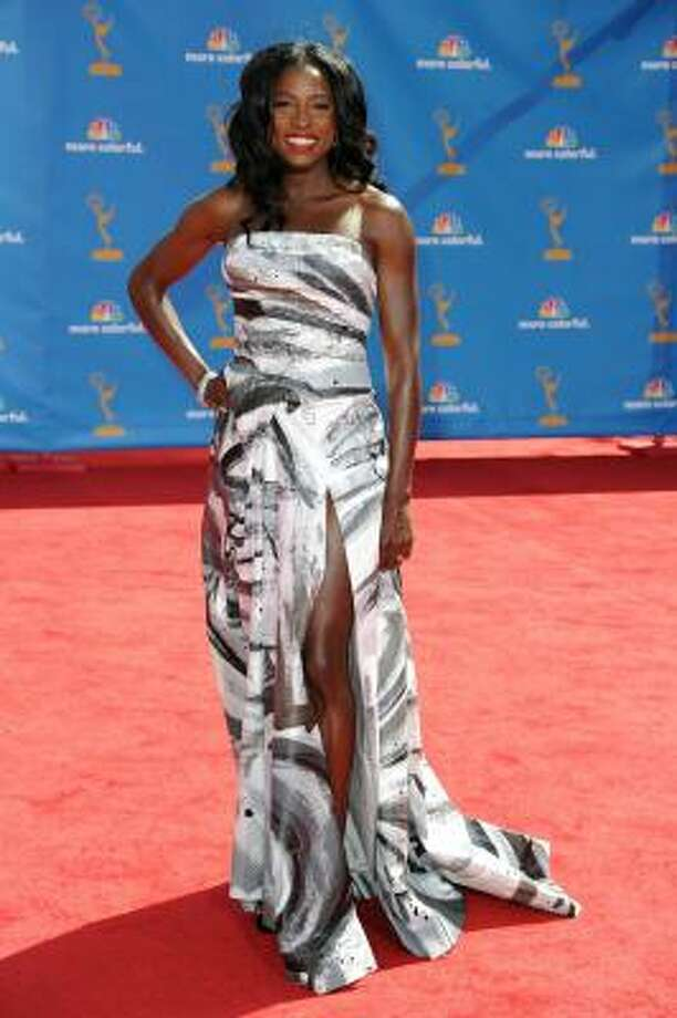 True Blood's Rutina Wesley wears watercolor zebra. Photo: Frazer Harrison, Getty Images
