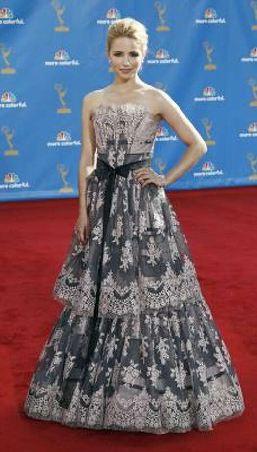 Dianna Agron – Grandma's lace curtains, only waaaay more expensive. Photo: Matt Sayles, AP