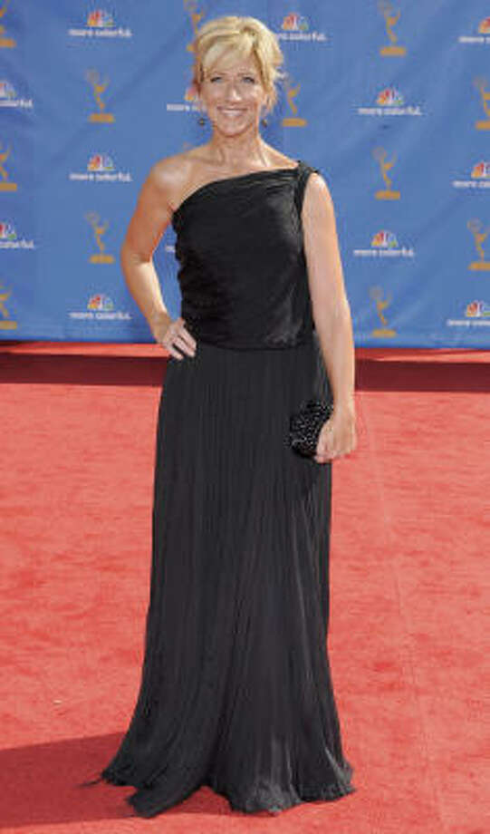 The Sopranos Edie Falco. Who knew chiffon could be so baggy? Bottega Veneta could have done better. Photo: Chris Pizzello, AP