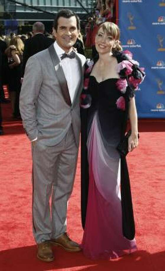 Ty Burrell and his wife, Holly - Yikes! Double trouble. Photo: Matt Sayles, AP