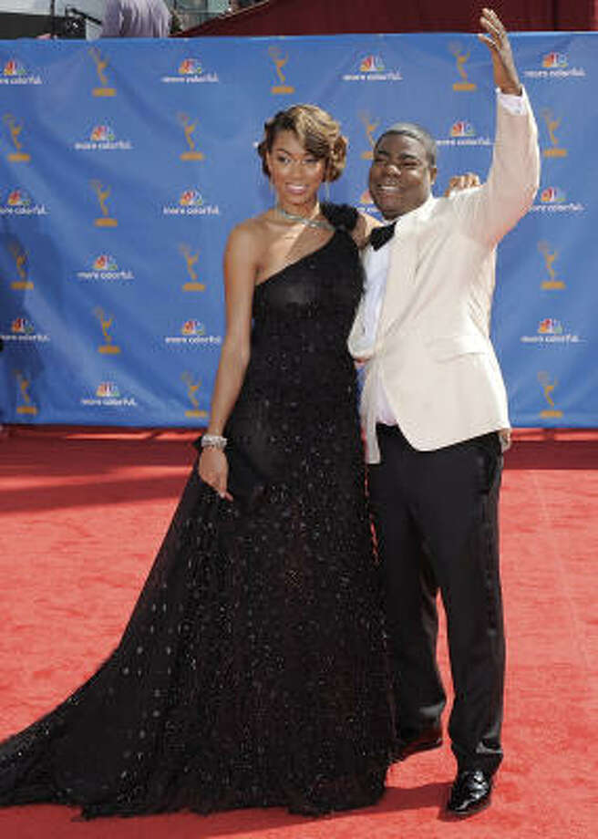 Tracy Morgan's best accessory is his smile. Photo: Chris Pizzello, AP