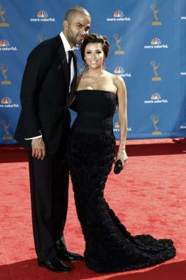 Tony Parker, left, and Eva Longoria Parker - Two for two. Photo: Matt Sayles, AP