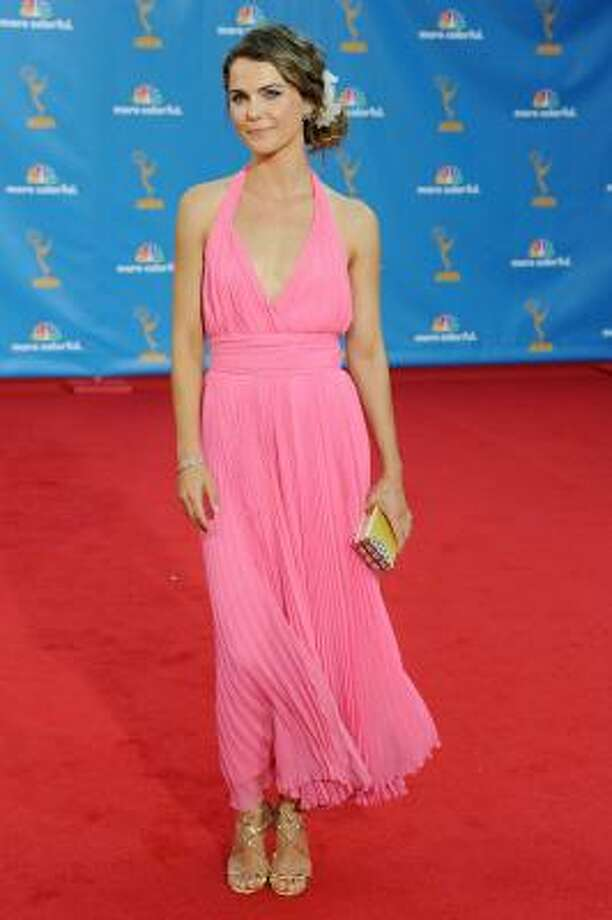Keri Russell – Thank GAWD she's got great accessories. Photo: Frazer Harrison, Getty Images