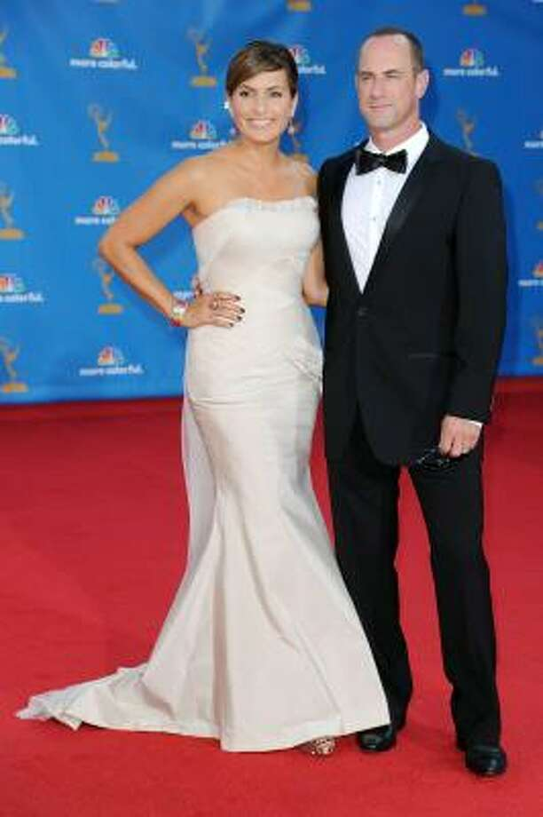 Mariska Hargitay looked lovely in form-fitting white. Photo: Frazer Harrison, Getty Images