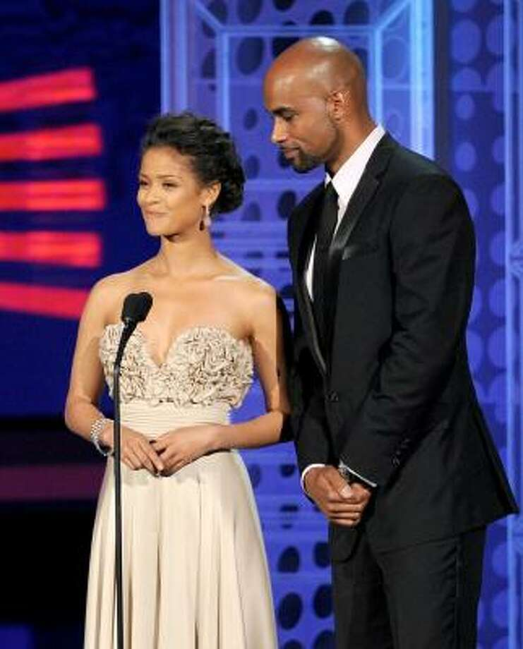 Gugu Mbatha-Raw (left) and Boris Kodjoe – Give it up, Bond. These spies are as beautiful as it gets. Photo: Kevin Winter, Getty Images