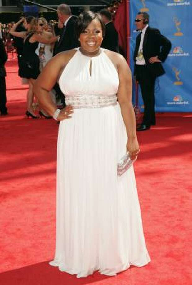 Amber Riley of TV show Glee was positively glowing. Photo: Jason Merritt, Getty Images