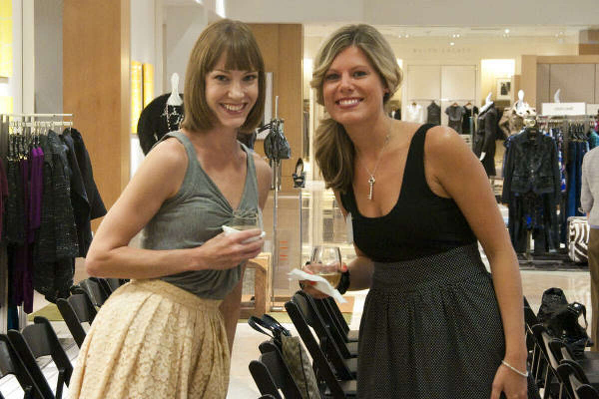 """Trista Brazier and Bridget Boggess at """"From Runway To Reality — Fall Trends 2010,"""" presented by Fashion Group International of Houston Inc. at Neiman Marcus."""