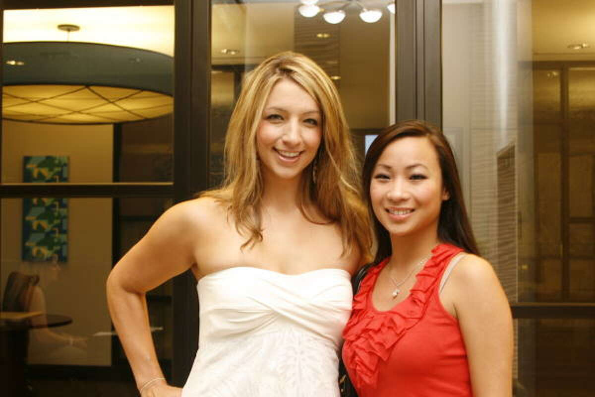 Megan Houtze and Ni Tran at a Women's Home Young Professionals mixer at West Ave.