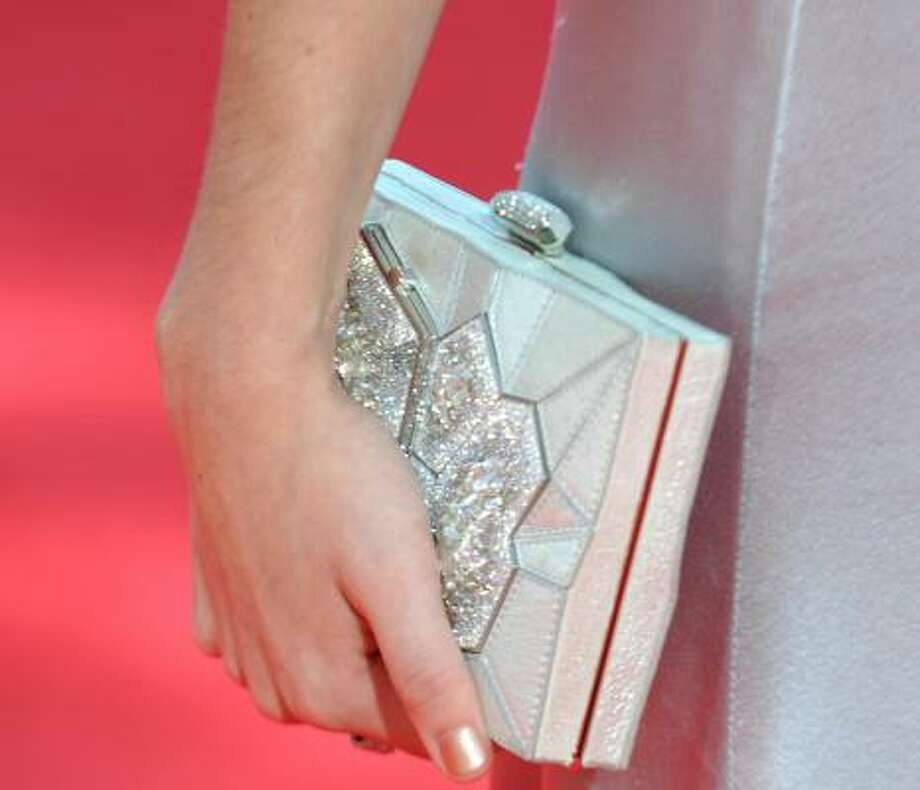 Sarah Hyland's vintage-looking purse. Photo: Frazer Harrison, Getty Images