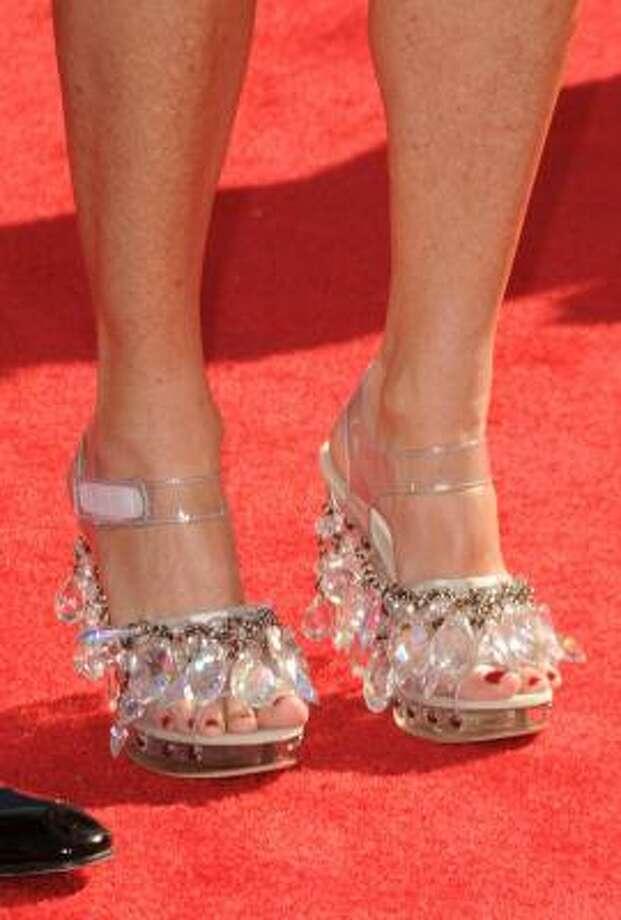 "Rita Wilson's shoes were ""bedazzled"". Photo: Jason Merritt, Getty Images"