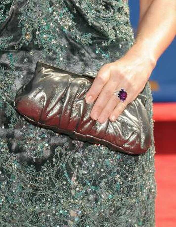 Jennifer Westfeldt's silver bag didn't quite match the dress. Photo: Jason Merritt, Getty Images