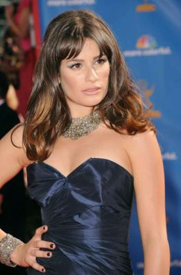 Lea Michele went for a chunky necklace. Photo: Jason Merritt, Getty Images