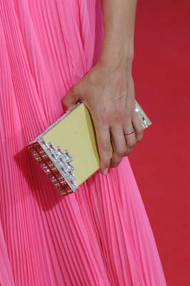 Keri Russell carries a very boxy purse. Photo: Frazer Harrison, Getty Images