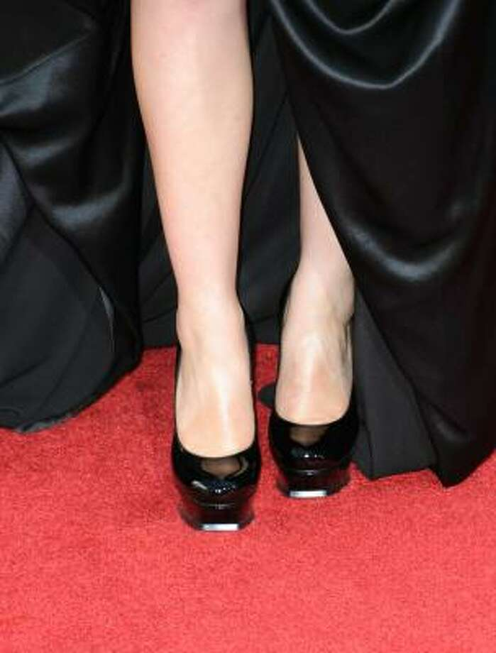 Anna Paquin's shoes looked like tap shoes. Photo: Frazer Harrison, Getty Images