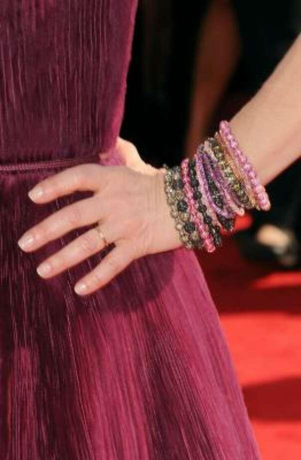 Kyra Sedgwick's beaded bracelets. Photo: Jason Merritt, Getty Images