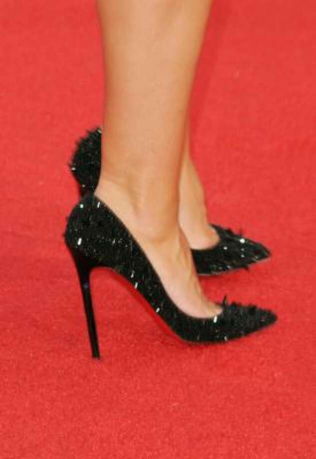 Heidi Klum preferred spiky pumps. Photo: Jason Merritt, Getty Images