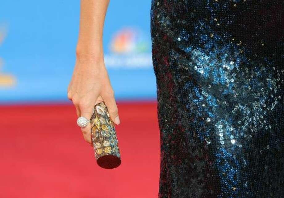 Jane Krakowski's small purse. Photo: Frazer Harrison, Getty Images