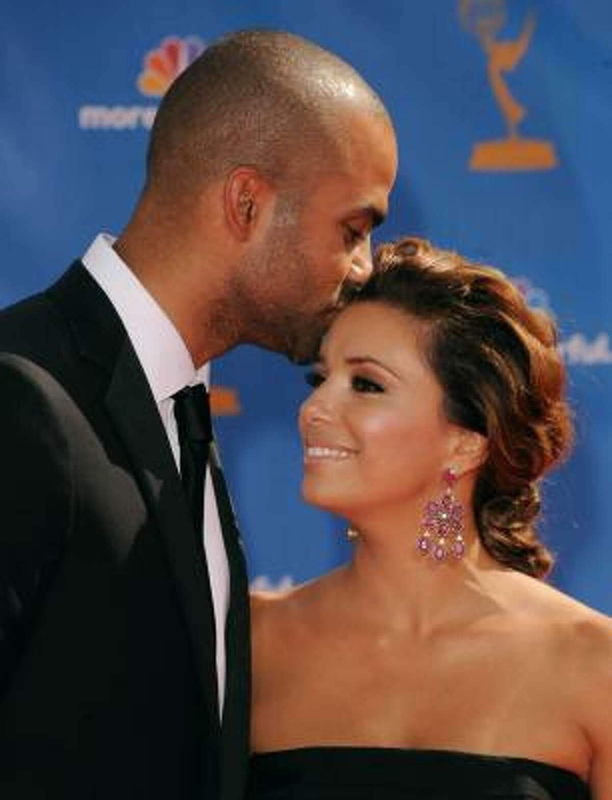Eva Longoria Parker of Desperate Housewives and Tony Parker