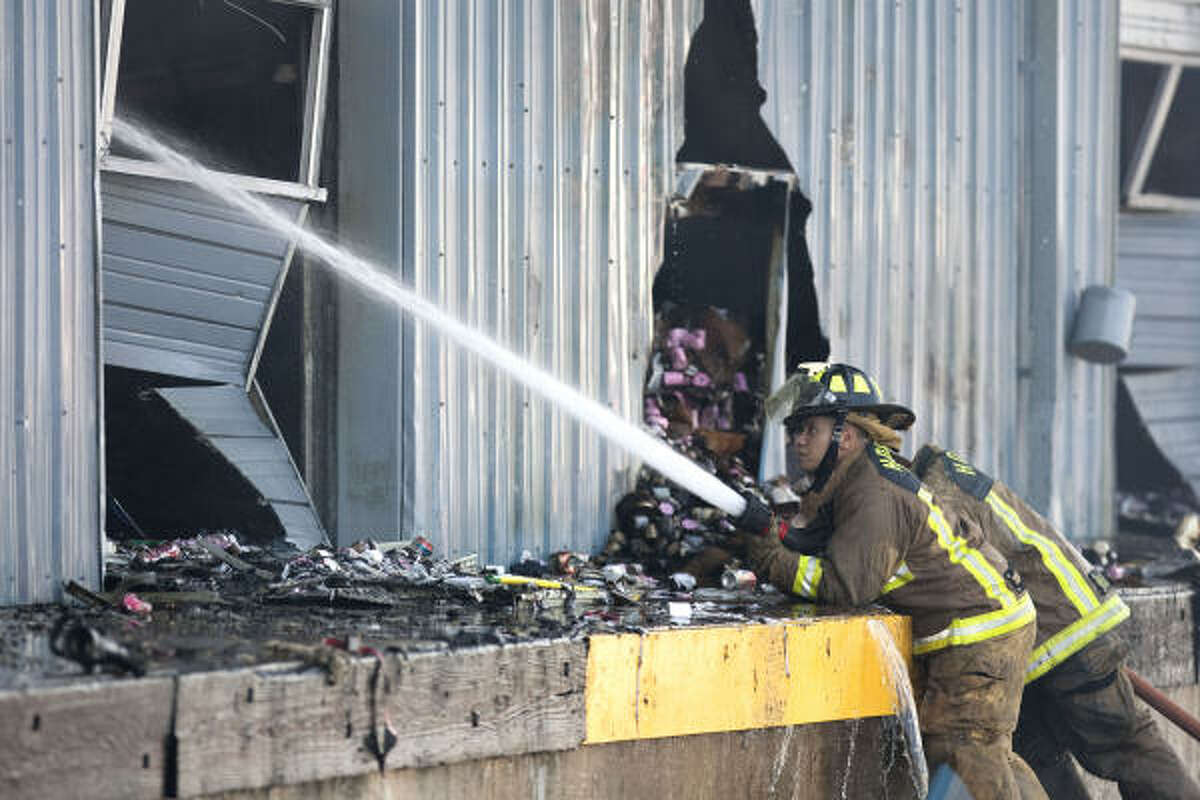 The fire started about 4:15 a.m. at the county's election equipment storage facility in the 600 block of Canino near Marnie, fire officials said.