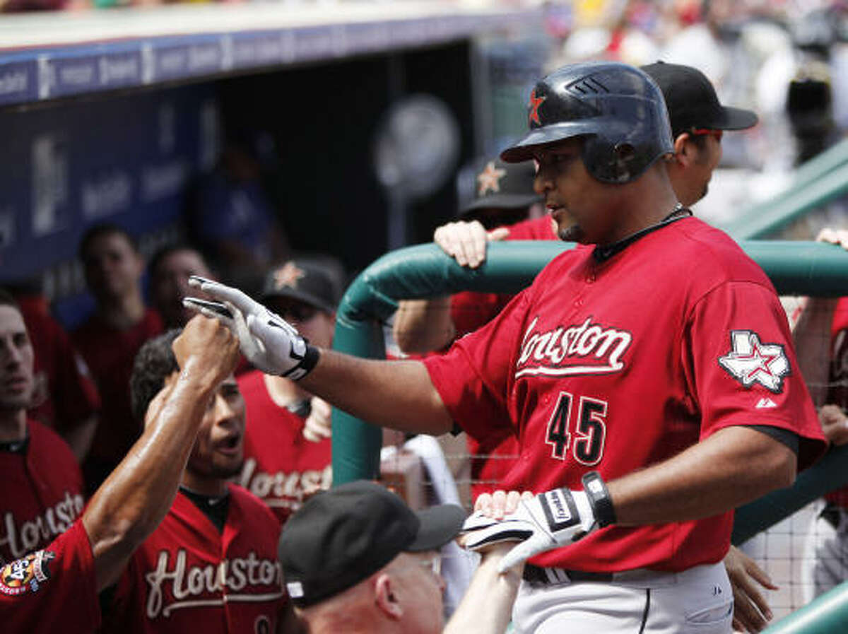 Aug. 26: Astros 5, Phillies 1 Carlos Lee's third-inning homer helped power the Astros to a win and a four-game sweep.
