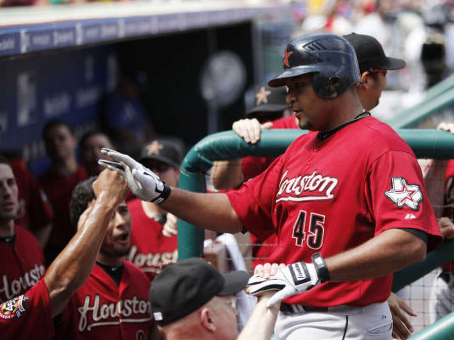 Aug. 26: Astros 5, Phillies 1Carlos Lee's third-inning homer helped power the Astros to a win and a four-game sweep. Photo: Matt Rourke, AP