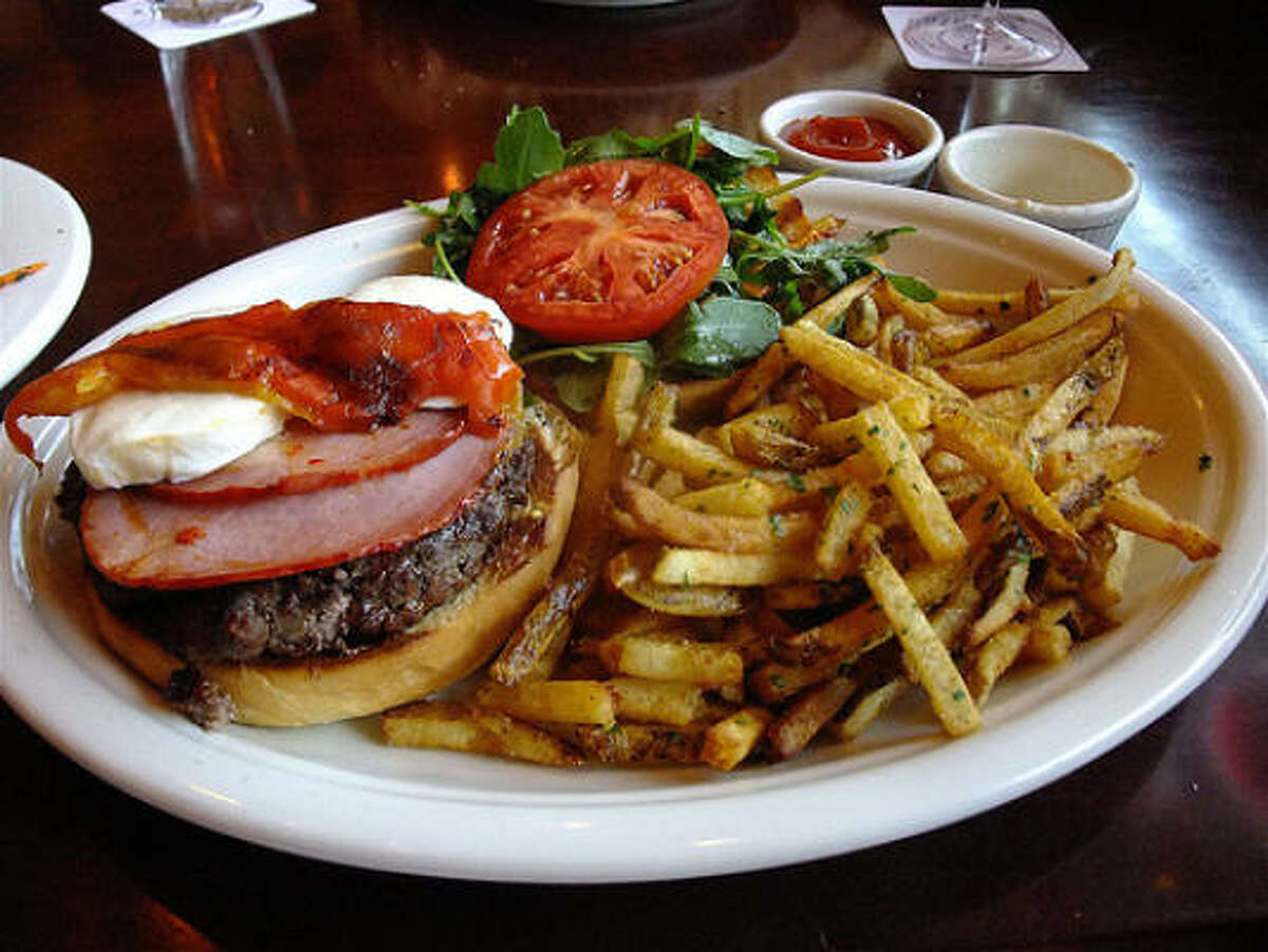 Laurenzo's peerless French Fries on a Dom Burger platter.